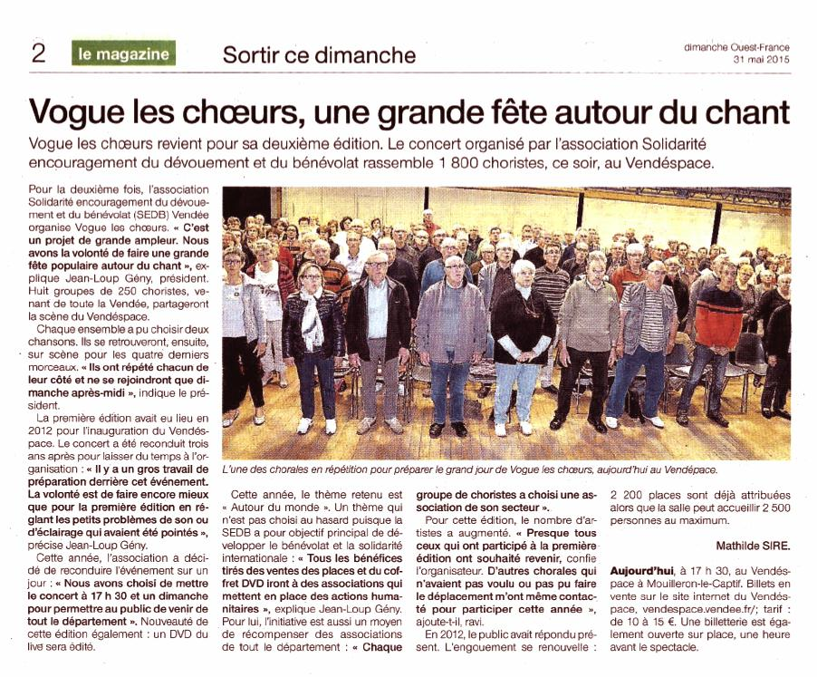Ouest france 31 05 2015